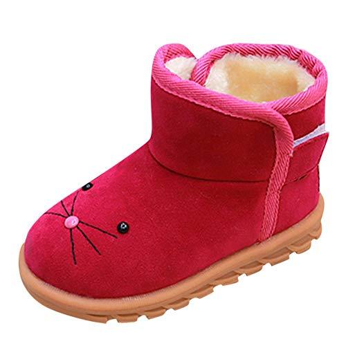 HEETEY Junge Mädchen Schuhe Winter warm Cartoon Schnee Kurze Stiefel Schuhe Plus SAMT warm Cartoon Wildlederstiefel Schneestiefel