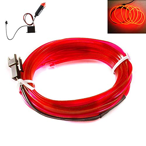 t Flexibel Auto Line Atmosphäre Innenraum Glühen (3 m) Rot ()