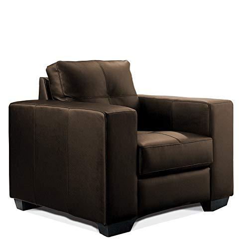 Madelaine Designercouch/Polstergarnitur / Polstercouch/Couch 1-Sitzer Pellissima/Sessel / Kunstleder braun