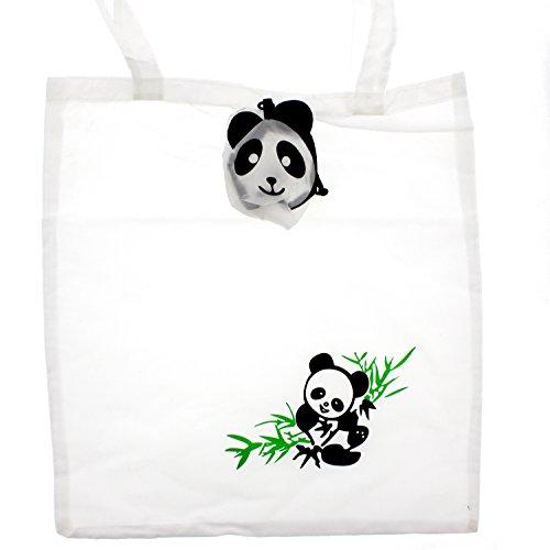 Zac 's Alter Ego® Fun Tiermotiv Einkaufstasche in/Waschtisch aufsteckbar Pocket Tasche panda