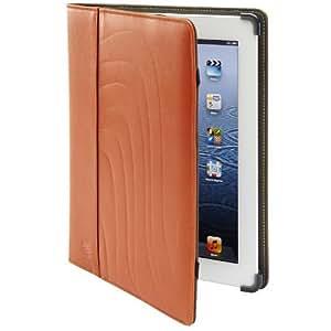 Apple iPad 2,3, Maroo Folio Kara Leather Case, Padded, Bumper Protection and Stand in Orange