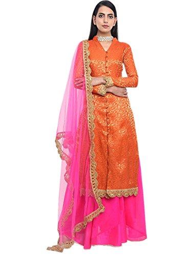 Shoppingover Indian Bollywood Designer Semi Stitched 4pc dress set wedding dress for...
