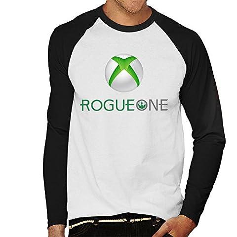 Star Wars Rogue One Xbox One Logo Men's Baseball Long Sleeved T-Shirt (Xbox Weihnachten Spiele)