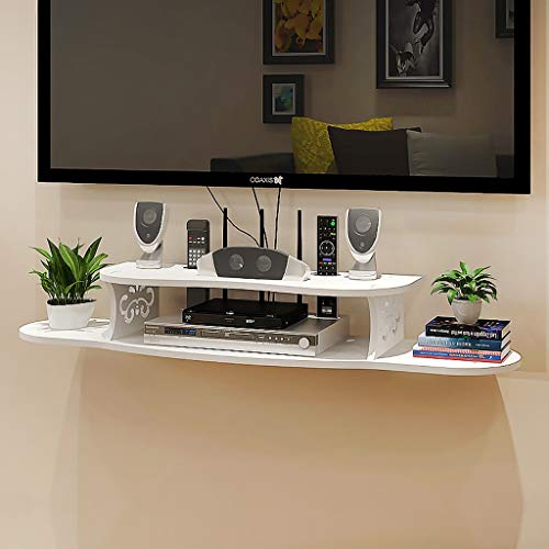 Meuble de télévision mural/étagère Console TV Routeur Set Box Coffret de stockage multimédia Présentoir multifonctionnel
