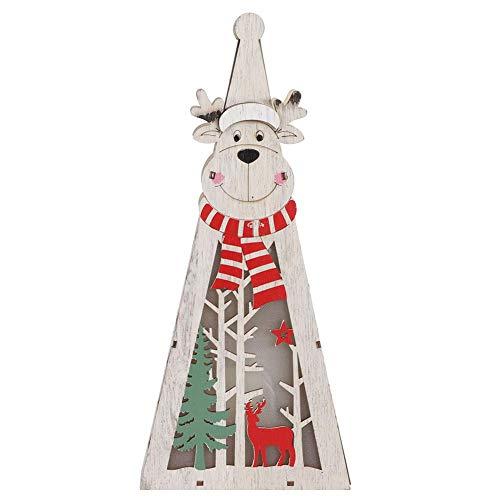 Fishlor Elch-Nachtlicht, reizendes Elch-Dekor 12in Karikatur-Tierelch-Licht-Dekor-Ausgangstabellendekor-Weihnachtsdekorations-Verzierung