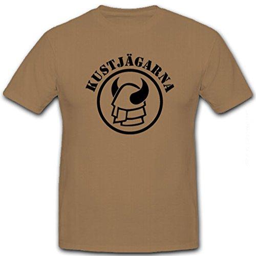 Coastal Marine (Kustjägarna Küstenjäger Coastal Rangers Helm Schweden Spezial Einheit schwedische amphibische Marine Armee - T Shirt Herren khaki #8654)