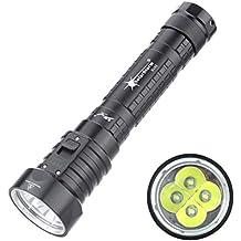 DK66 Linterna de buceo submarino brillo resistente al agua 100m 4L2 antorcha linterna con luz