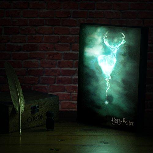 41CbifiWFlL - Paladone Luminart lampara Patronus Harry Potter, Multicolor