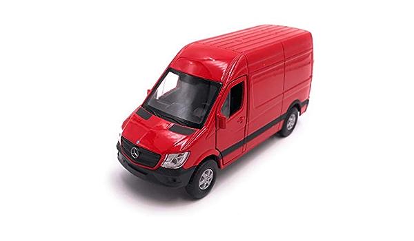H Customs Mercedes Benz Sprinter Modellauto Auto Lizenzprodukt 1 34 1 39 Rot Auto