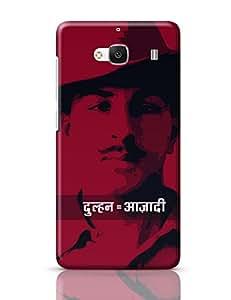 Posterguy dulhan azadi Bhagat Singh Case Cover For Redmi 2, Redmi 2 Prime (White)