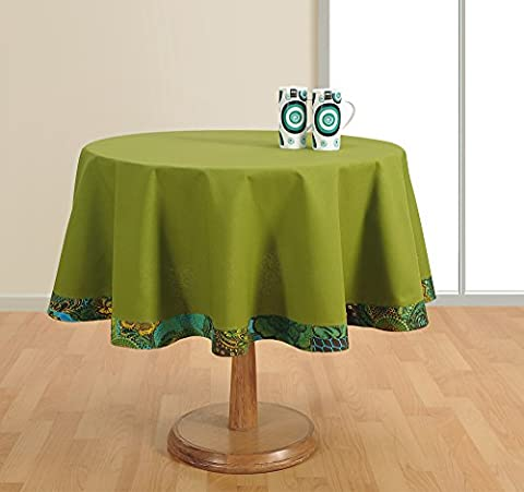 Round Table Cover Duck Cotton - 60 Inch Diameter -Green