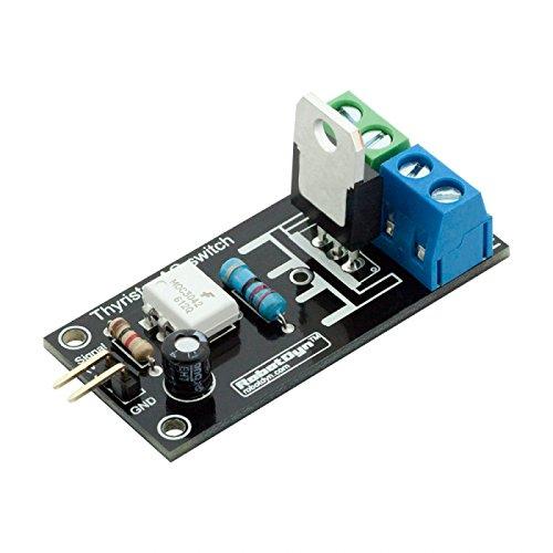 Preisvergleich Produktbild ROUHO 3Pcs Thyristor AC Switch Relay Modul 3.3V / 5V Logic AC 220V / 5A Peak 10A