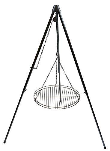 Dreibein Schwenkgrill Edelstahl stufenlos höhenverstellbar inkl. 70 cm Edelstahl-Rost (165)