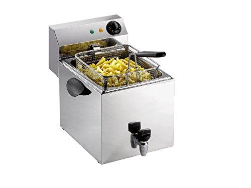 Saro 172-2070 Fritteuse Modell Profri 8 V mit Ablasshahn, 8 L, 3250 W