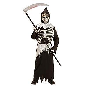 WIDMANN Disfraz de Esqueleto, Vestido, máscara, Pecho y fajín