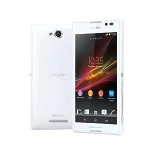 """Sony Smartphone Sony Xperia C C2305 avec écran 5"""" (12,7 cm) Cortex-A7 Quad-core, 1,2 GHz, 1 Go RAM, 4 Go de mémoire interne, appareil photo 8 Mpx, Android 4.2, Dual-Sim Blanc"""