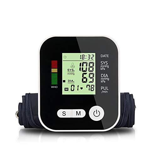 Yuehg USB Elektronischer Blutdruck Monitor Präzise und Tragbar mit Digital LCD Display Optionale Sprachfunktion 2 * 99 Speicherfunktion,Voicefunction