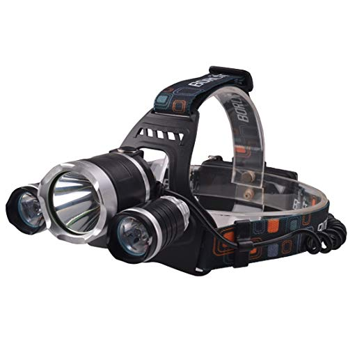 Illumination SF-555E 3 LEDs 2250 LM CREE XML T6 Phare blanc froid à LED avec modes Haut/Moyen/Bas/Strobe, Longueur du serre-tête: 40 cm Lighting for you
