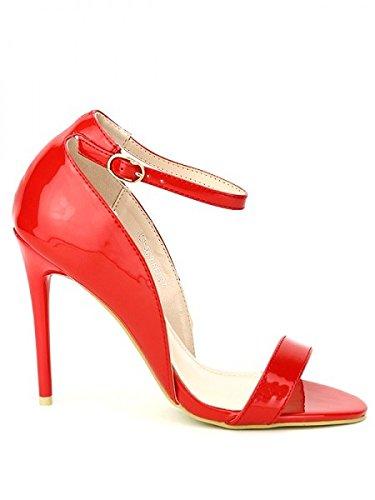 Cendriyon, Escarpin verni Rouge WEIDE Chaussures Femme Rouge