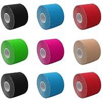 Kintex 4 Rollen Kinesiologie Tape 5m x 5cm freie Farbwahl 1,40€/m Verspannungen Kopfschmerzen Nacken Knie Tennisarm preisvergleich bei billige-tabletten.eu