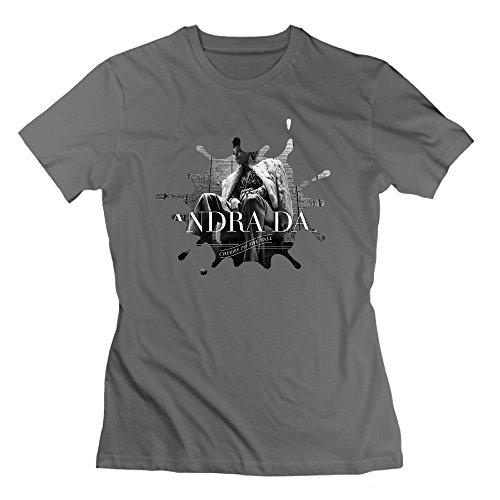 Nana-Custom Tees Damen T-Shirt Gr. Large, Schwarz - Deep Heather