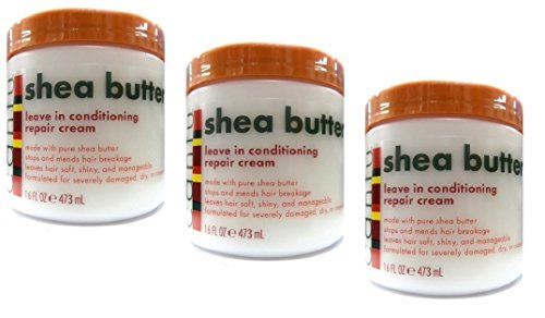 3x Cantu Shea Butter Leave In Conditioning Repair Cream 473ml (1419ml)) -