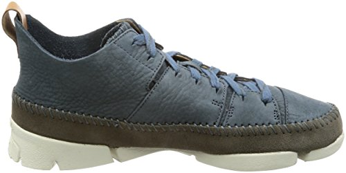 Clarks Originals Mens Trigenic Flex Nubuck Trainers Blue Perfecta De Descuento l36keW