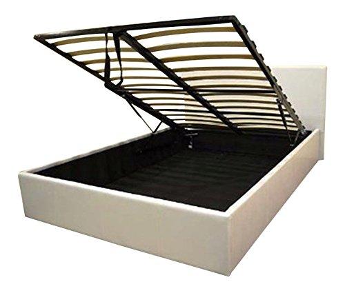 Bedsandbeds limited white 4ft ottoman small double for Small double bed ottoman storage