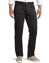 Calvin Klein Mens Slim Fit 4-Pocket Stretch Sateen Pant, Black, 32Wx34L