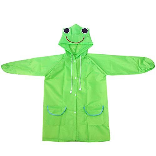 inicio Raincoat Girl Boys Kid Children Waterproof Poncho Rainwear Rainsuit Animal-Style Cartoon Children 1PC