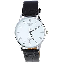 Tonsee Fashion Classic Men's Roman Number Quartz Electronic Pu Leather Wrist Watch