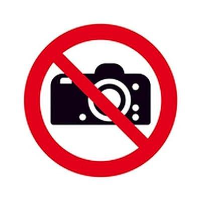 Schild Fotografieren verboten Verbotszeichen Ø 31,5cm Alu