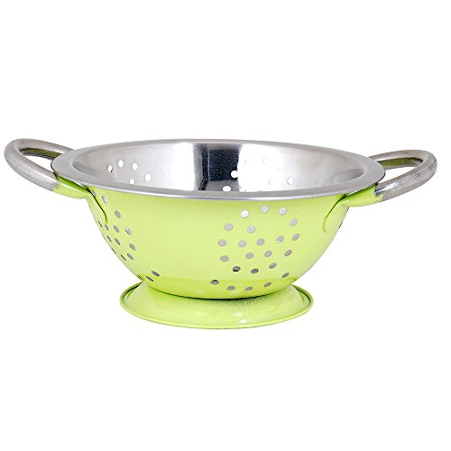 twin-handle-colander-by-kosma-mirror-finish-interior-with-lime-green-colour-exterior-premium-tablewa