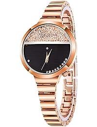 VEHOME Reloj de Moda para Mujer - Correa de Acero Inoxidable - Cuarzo analógico - Dial Circular-Relojes Inteligentes relojero Reloj…
