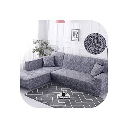 Heloise Richard Sofa-Abdeckung elastische Couch Abdeckung Sectional Stuhl-Abdeckung Es braucht Auftrag 2Pieces Sofa-Abdeckung, wenn Ihre Sofa-Ecke L-Form Sofa, Color4,2Seater und 3 Sitzer -