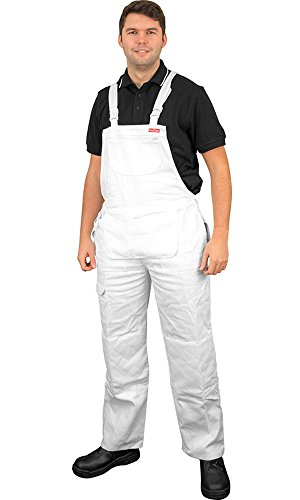 prodec-painter-decorator-white-bib-brace-overalls-with-knee-pad-pockets-w40