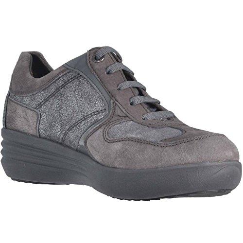 STONEFLY 105.305 grauen Frauen Schuhe Sneaker Schnürsenkel zeppetta Komfort Grigio