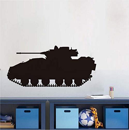 Wasserdichte Militärarmee Tank Vinyl Wandaufkleber Abnehmbare Kunst Silhouette Tapete Für kinderzimmer Wohnkultur 127x58 ()