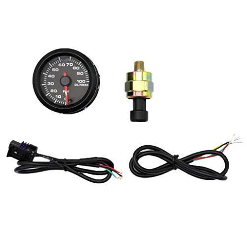 Homyl 52mm Manometro Indicatore Pressione Olio Con Sensore Per Auto Modificato