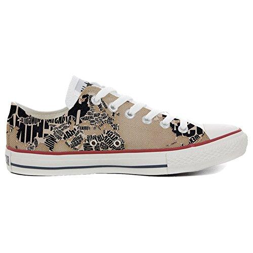 mys Converse All Star Low Customized Unisex Personalisierte Schuhe (Handwerk Schuhe) Globus TG34 (Globus Schuhe Damen)