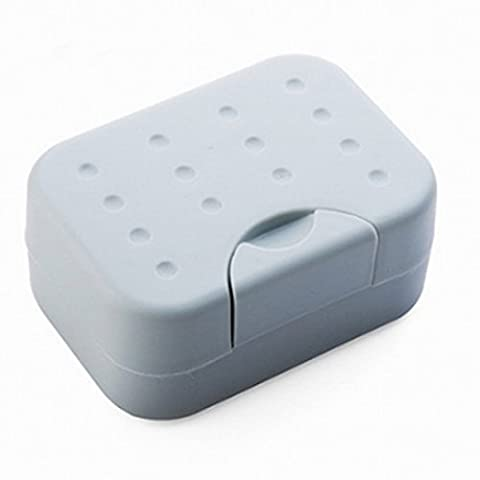 BUYDirect Langlebigem Kunststoff Seifenhalter aus Plastik Fall Halter Container der Seife Wandern Camping Reise mit Spirogyra (Elegante Rosen-seife)