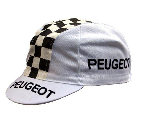 Radmütze Peugeot Classic Cap Rennmütze Retro Mütze