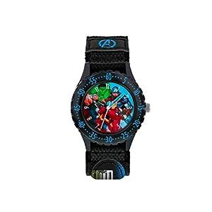 Avengers Jungen Analog Quarz Uhr mit Stoff Armband AVG5008
