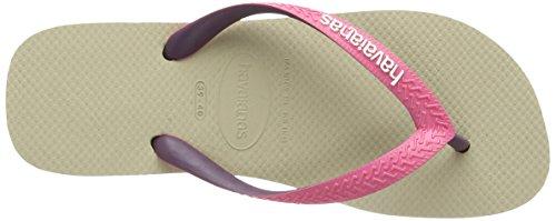 Havaianas Top Mix, Unisex Flip Flops Beige (sandgrey/pink 5538)