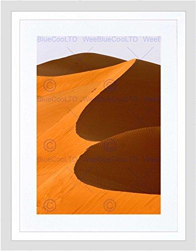 DUBAI DUNE DESERT SAND ORANGE BLACK FRAME FRAMED ART PRINT PICTURE B12X9606
