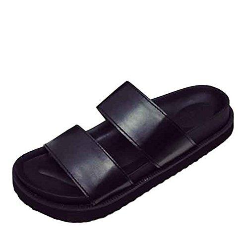 In estate/Coreano moda semplice casual pantofole/scarpe da donna piatta piatto infradito A
