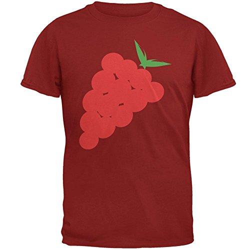 Old Glory Halloween, die Rote Trauben Herren T Shirt Kardinalrot Kostüm 2XL