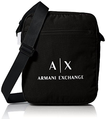 Armani Exchange Herren Messenger Bags Geldbörse, Schwarz (Nero) Einheitsgröße (Für Hugo Messenger Männer Boss Bag)