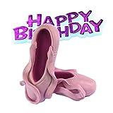 Creative Tortenaufsatz Balletschuhe mit Schriftzug Happy Birthday (Einheitsgröße) (Pink)