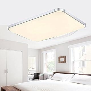 48W LED Ceiling Lights Azerogo 3000K Super Bright 65cm*43cm LED Ceiling Lamp for Bathroom, Kitchen, Hallway, Office,Flush Ceiling Light, Bathroom Ceiling Lights Warm white